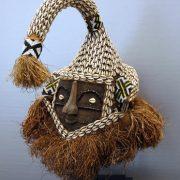 Afrikaanse Kunst | Mukyeem masker Zaïre/linnen (incl.standaard)